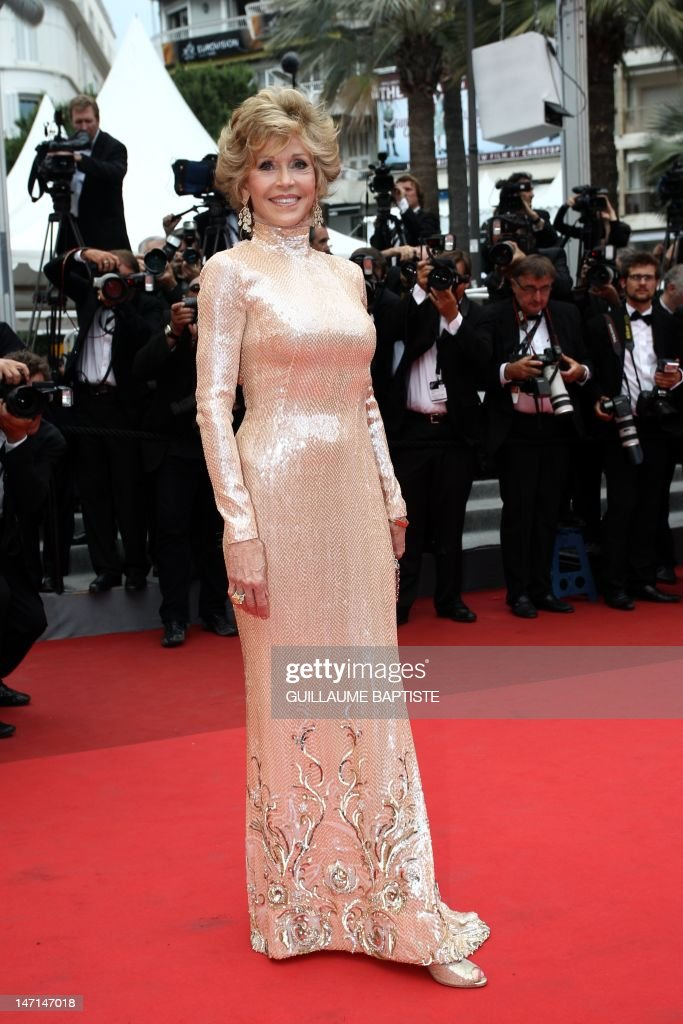 US actress Jane Fonda poses before the closing ceremony and the screening of 'Les Bien-Aimes' (Beloved) at the 64th Cannes Film Festival on May 22, 2011 in Cannes.