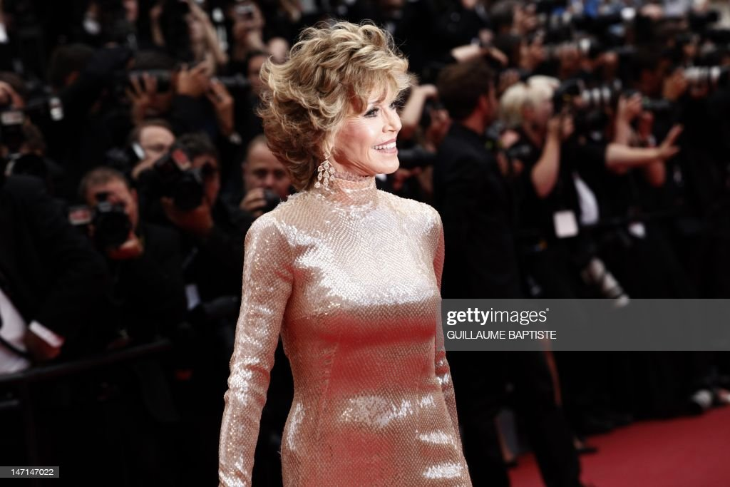 US actress Jane Fonda poses on the red carpet before the closing ceremony and the screening of 'Les Bien-Aimes' (Beloved) at the 64th Cannes Film Festival on May 22, 2011 in Cannes.