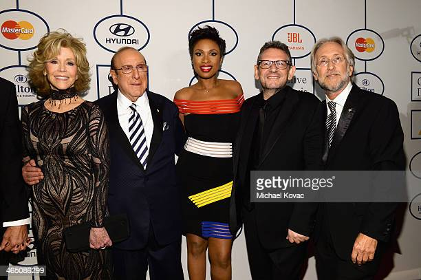 Actress Jane Fonda Sony Music Chief Creative Officer Clive Davis recording artist Jennifer Hudson honoree Lucian Grainge and Recording Academy...
