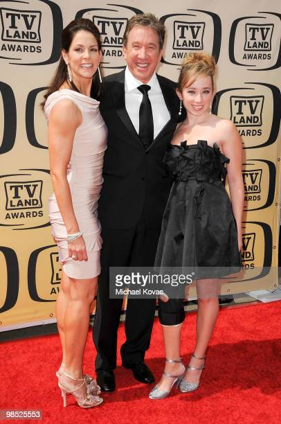 Actress Jane Hajduk actor Tim Allen and daughter Katherine Allen attends the 8th Annual TV Land Awards held at Sony Studios on April 17 2010 in...
