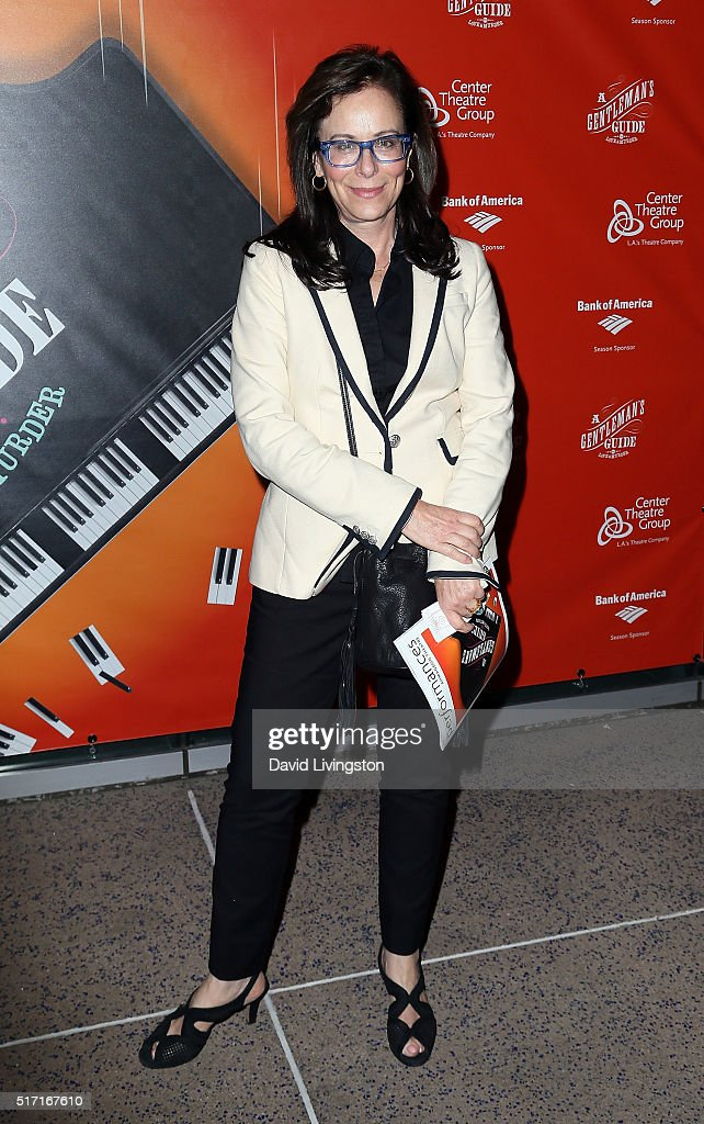 Actress Jane Kaczmarek attends the opening of 'A Gentleman's Guide to Love and Murder' at the Ahmanson Theatre on March 23 2016 in Los Angeles...