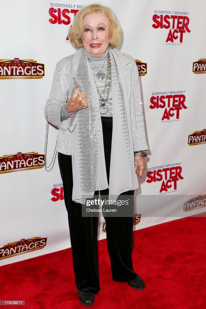 Actress <a gi-track='captionPersonalityLinkClicked' href=/galleries/search?phrase=Jane+Kean&family=editorial&specificpeople=2607537 ng-click='$event.stopPropagation()'>Jane Kean</a> arrives at the 'Sister Act' opening night premiere at the Pantages Theatre on July 9, 2013 in Hollywood, California.