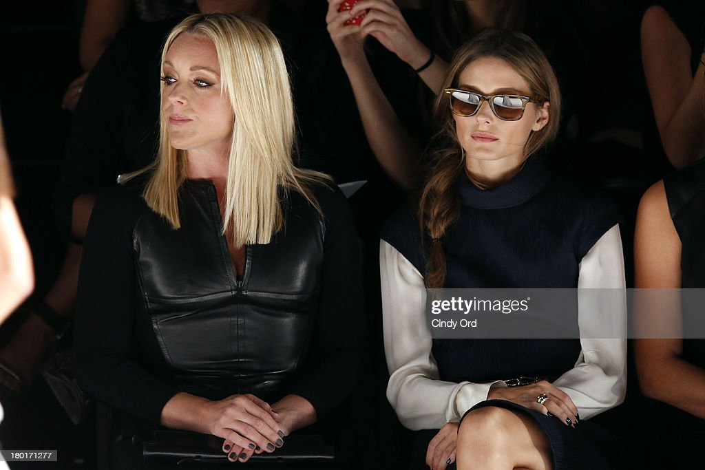 Actress Jane Krakowski and Olivia Palermo attend the Kaufmanfranco fashion show during Mercedes-Benz Fashion Week Spring 2014 at The Theatre at Lincoln Center on September 9, 2013 in New York City.