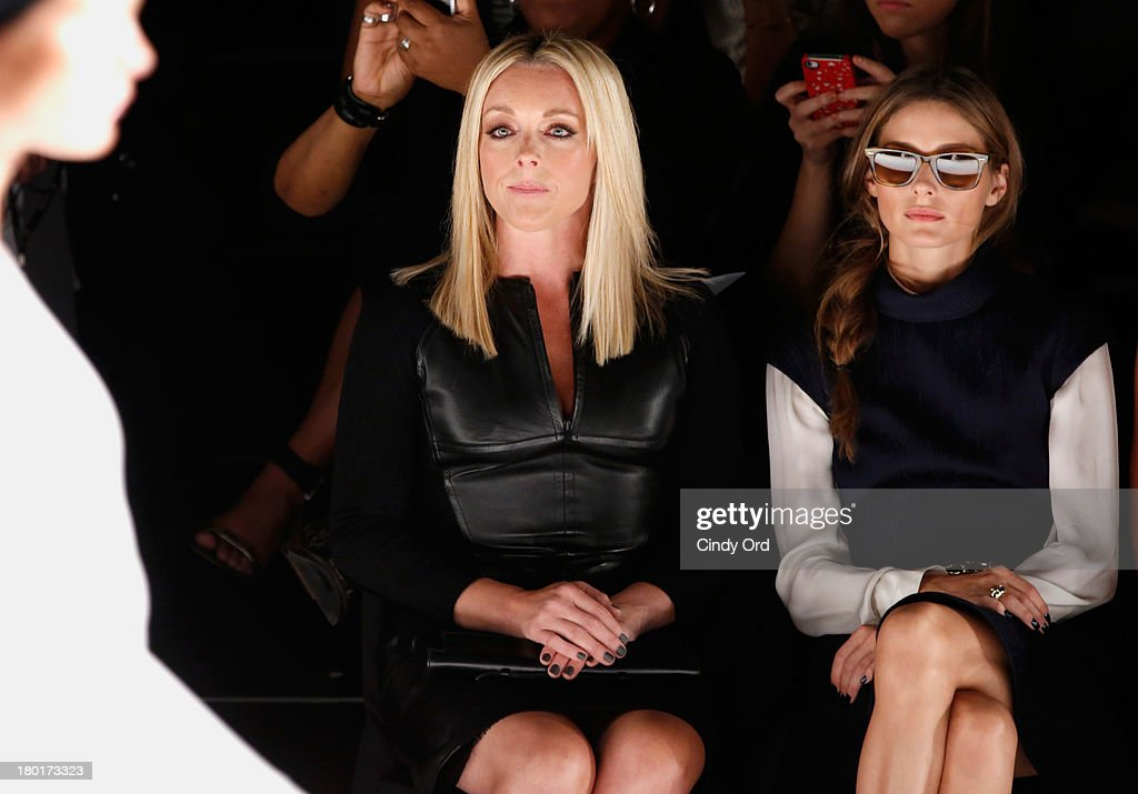 Actress Jane Krakowski and Olivia Palermo attend the Kaufmanfranco fashion show during MercedesBenz Fashion Week Spring 2014 at The Theatre at...