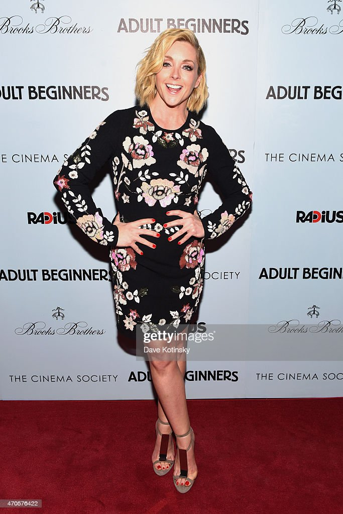 Actress Jane Krakowski attends the New York premiere of 'Adult Beginners' hosted by RADiUS with The Cinema Society Brooks Brothers at AMC Lincoln...