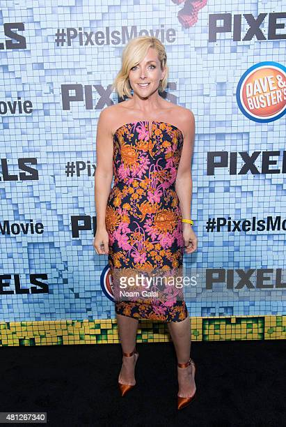 Actress Jane Krakowski attends the 'Pixels' New York premiere at Regal EWalk on July 18 2015 in New York City