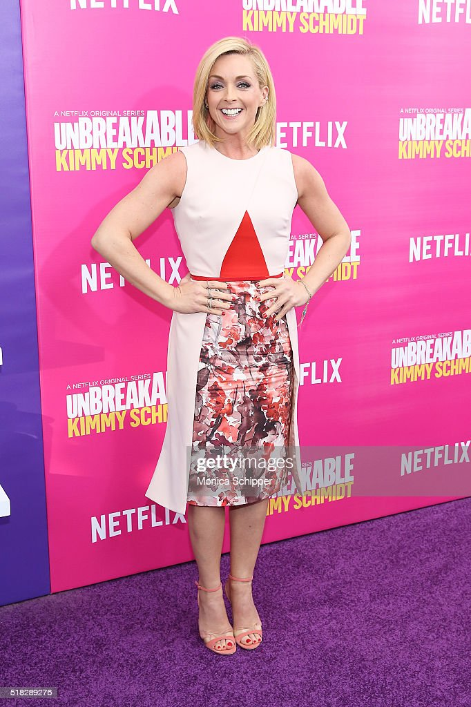Actress Jane Krakowski attends the 'Unbreakable Kimmy Schmidt' season 2 world premiere at SVA Theatre on March 30 2016 in New York City