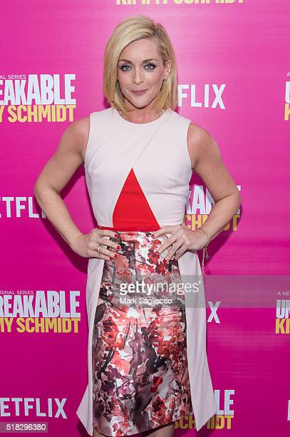 Actress Jane Krakowski attends the 'Unbreakable Kimmy Schmidt' Season 2 World Premiere at the SVA Theatre on March 30 2016 in New York City