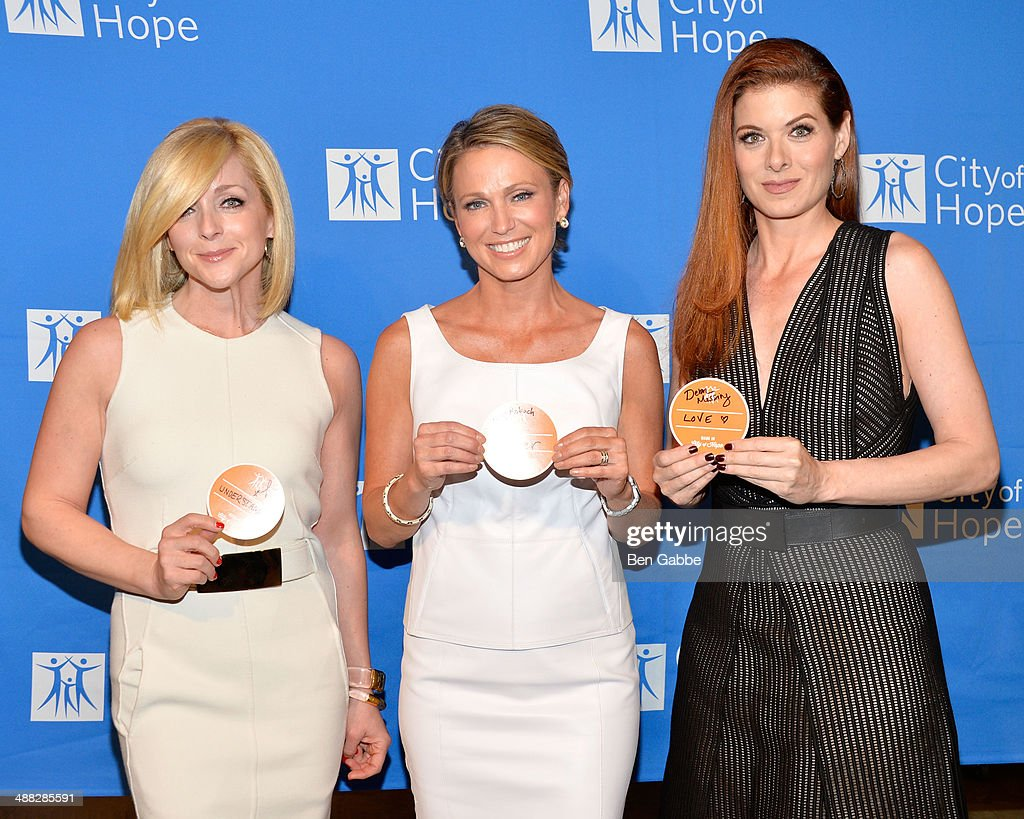 Actress <a gi-track='captionPersonalityLinkClicked' href=/galleries/search?phrase=Jane+Krakowski&family=editorial&specificpeople=203166 ng-click='$event.stopPropagation()'>Jane Krakowski</a>, journalist <a gi-track='captionPersonalityLinkClicked' href=/galleries/search?phrase=Amy+Robach&family=editorial&specificpeople=3075672 ng-click='$event.stopPropagation()'>Amy Robach</a> and actress <a gi-track='captionPersonalityLinkClicked' href=/galleries/search?phrase=Debra+Messing&family=editorial&specificpeople=202114 ng-click='$event.stopPropagation()'>Debra Messing</a> attend 2014 'Spirit Of Life' Awards Luncheon at The Plaza Hotel on May 5, 2014 in New York City.