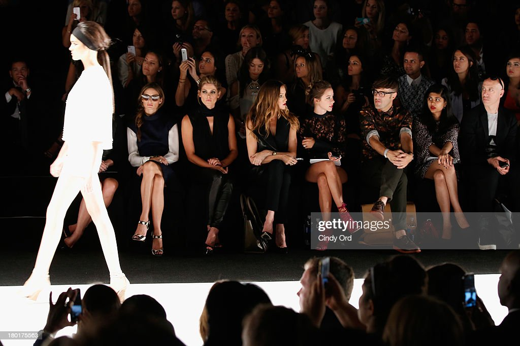 Actress Jane Krakowski, Olivia Palermo, actors Ashley Greene and Katie Cassidy attend the Kaufmanfranco fashion show during Mercedes-Benz Fashion Week Spring 2014 at The Theatre at Lincoln Center on September 9, 2013 in New York City.
