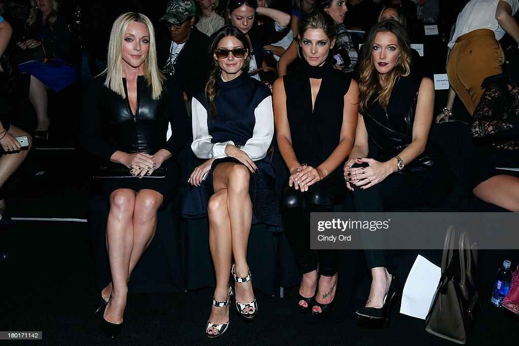 Actress Jane Krakowski, Olivia Palermo, actors Ashley Greene andKatie Cassidy attend the Kaufmanfranco fashion show during Mercedes-Benz Fashion Week Spring 2014 at The Theatre at Lincoln Center on September 9, 2013 in New York City.