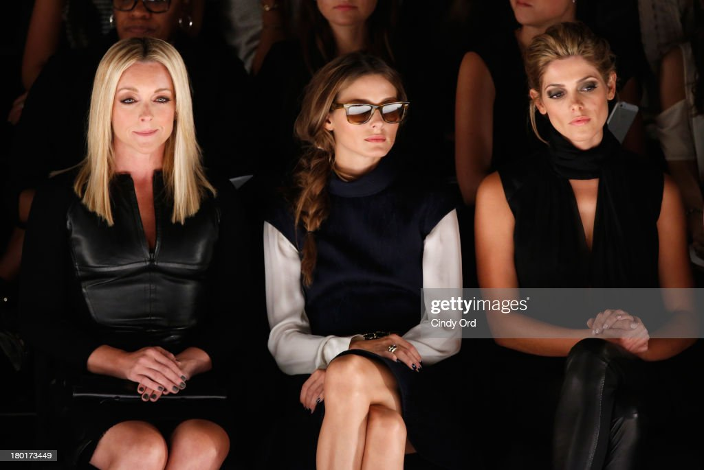 Actress Jane Krakowski, Olivia Palermo and actress Ashley Greene attends the Kaufmanfranco fashion show during Mercedes-Benz Fashion Week Spring 2014 at The Theatre at Lincoln Center on September 9, 2013 in New York City.