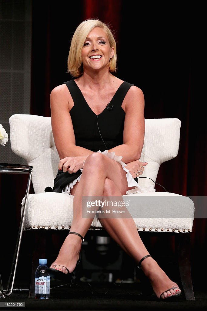 Actress <a gi-track='captionPersonalityLinkClicked' href=/galleries/search?phrase=Jane+Krakowski&family=editorial&specificpeople=203166 ng-click='$event.stopPropagation()'>Jane Krakowski</a> speaks onstage during the 'Unbreakable Kimmy Schmidt' panel discussion at the Netflix portion of the 2015 Summer TCA Tour at The Beverly Hilton Hotel on July 28, 2015 in Beverly Hills, California.