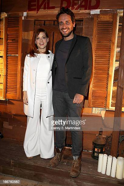 Actress Jane Levy and director Fede Alvarez attend a screening of 'Evil Dead' at Ritzy Brixton on April 16 2013 in London England