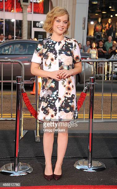 Actress Jane Levy arrives at the Los Angeles premiere of 'This Is Where I Leave You' at TCL Chinese Theatre on September 15 2014 in Hollywood...
