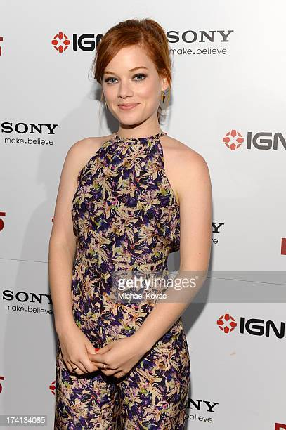 Actress Jane Levy attends Sony Pictures Home Entertainment and Evil Dead Bluray Fan Party At Comic Con 2013 at The Commons Bar on July 20 2013 in San...