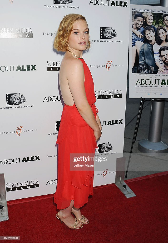 Actress Jane Levy attends the 'About Alex' Los Angeles premiere held at the Arclight Theater on August 6, 2014 in Hollywood, California.