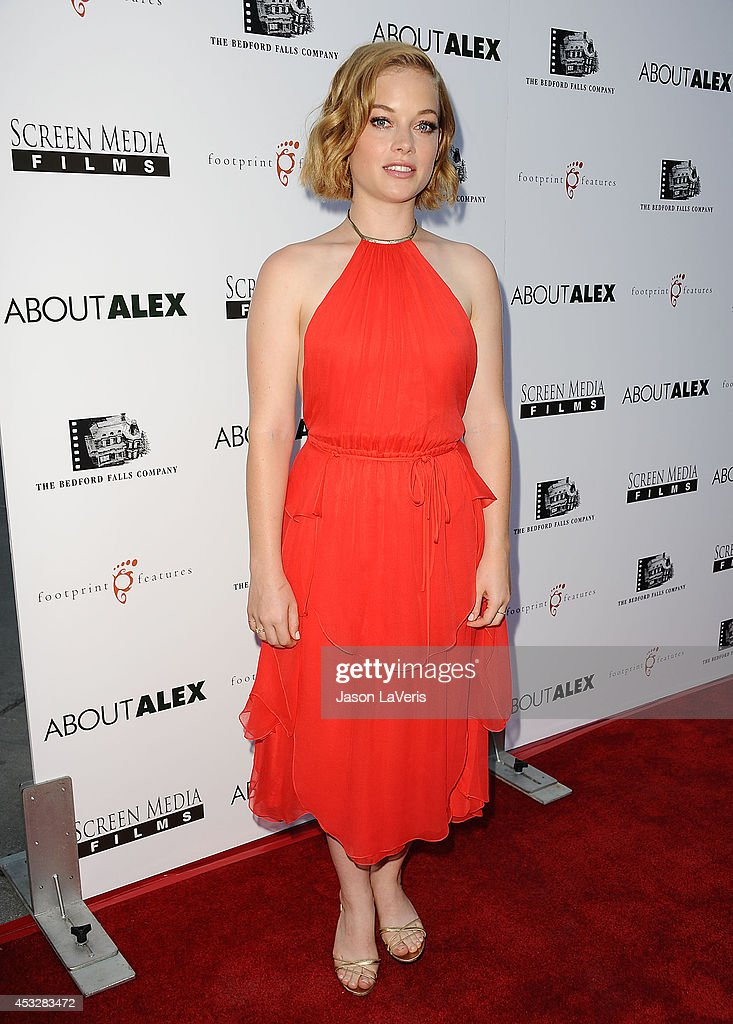 Actress <a gi-track='captionPersonalityLinkClicked' href=/galleries/search?phrase=Jane+Levy&family=editorial&specificpeople=8024402 ng-click='$event.stopPropagation()'>Jane Levy</a> attends the premiere of 'About Alex' at ArcLight Hollywood on August 6, 2014 in Hollywood, California.