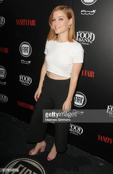 Actress Jane Levy attends Vanity Fair and FIAT Young Hollywood Celebration at Chateau Marmont on February 23 2016 in Los Angeles California