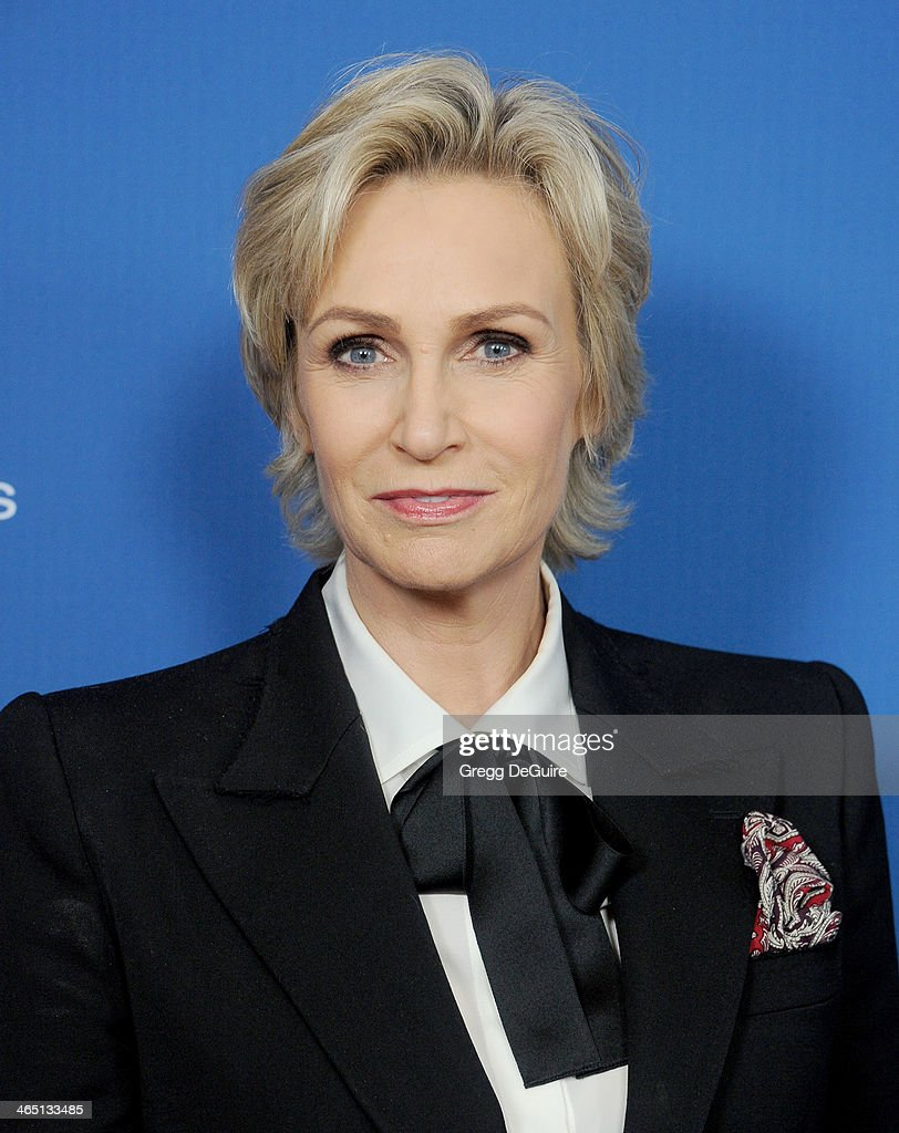 Actress Jane Lynch arrives at the 66th Annual Directors Guild Of America Awards at the Hyatt Regency Century Plaza on January 25, 2014 in Century City, California.