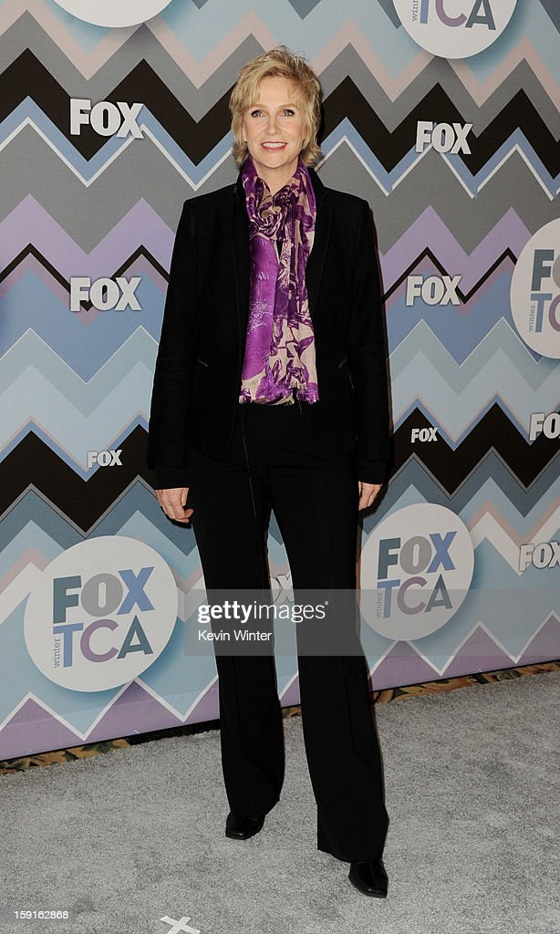 Actress Jane Lynch arrives at the FOX All-Star Party at the Langham Huntington Hotel on January 8, 2013 in Pasadena, California.