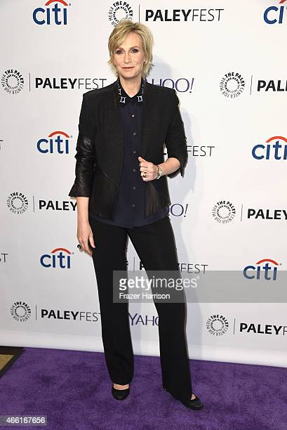 Actress Jane Lynch arrives at The Paley Center For Media's 32nd Annual PALEYFEST LA 'Glee' at Dolby Theatre on March 13 2015 in Hollywood California