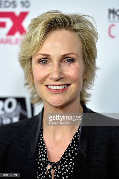 Actress Jane Lynch arrives at the premiere of FX's 'American Horror Story Coven' at Pacific Design Center on October 5 2013 in West Hollywood...