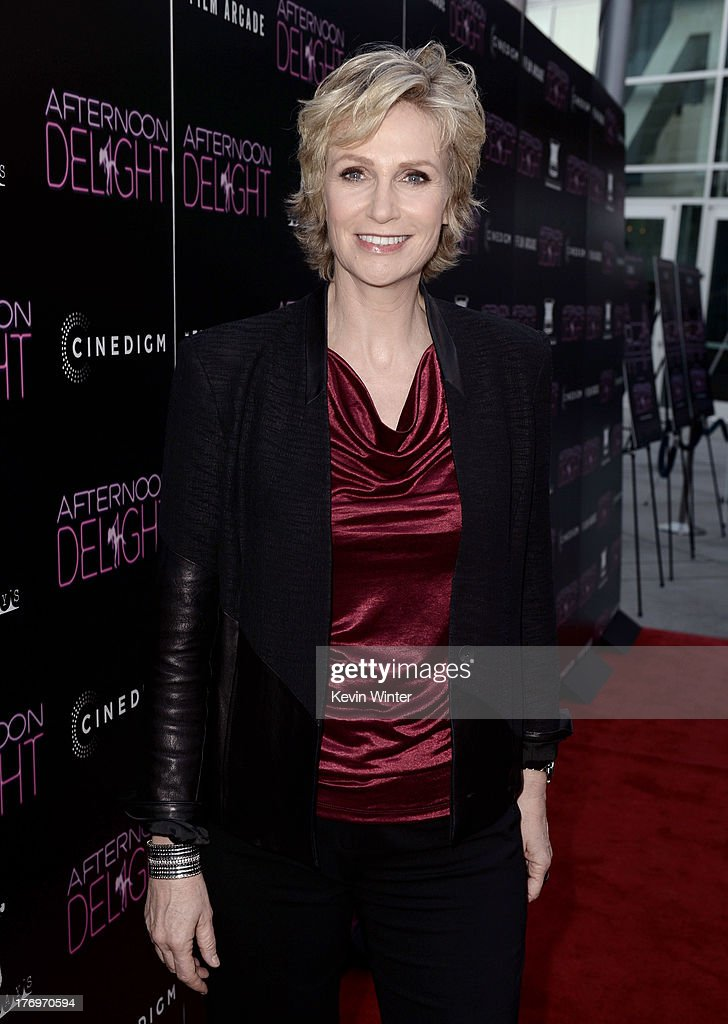 Actress <a gi-track='captionPersonalityLinkClicked' href=/galleries/search?phrase=Jane+Lynch&family=editorial&specificpeople=663918 ng-click='$event.stopPropagation()'>Jane Lynch</a> arrives at the premiere of The Film Arcade and Cinedigm's 'Afternoon Delight' at the Arclight Theatre on August 19, 2013 in Los Angeles, California.