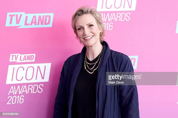 Actress Jane Lynch attends 2016 TV Land Icon Awards at The Barker Hanger on April 10 2016 in Santa Monica California