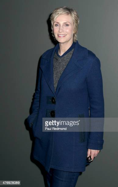 Actress Jane Lynch attends 'Elaine Stritch Shoot Me' Los Angeles Special Screening at WGACA on March 5 2014 in Los Angeles California