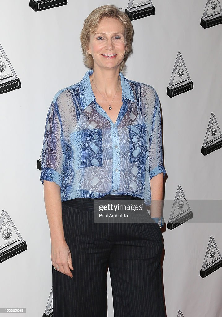 Actress <a gi-track='captionPersonalityLinkClicked' href=/galleries/search?phrase=Jane+Lynch&family=editorial&specificpeople=663918 ng-click='$event.stopPropagation()'>Jane Lynch</a> attends the 2012 Media Access Awards at The Beverly Hilton Hotel on October 10, 2012 in Beverly Hills, California.
