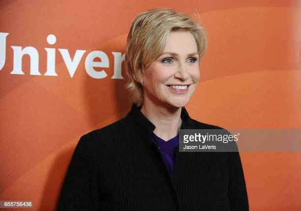Actress Jane Lynch attends the 2017 NBCUniversal summer press day The Beverly Hilton Hotel on March 20 2017 in Beverly Hills California
