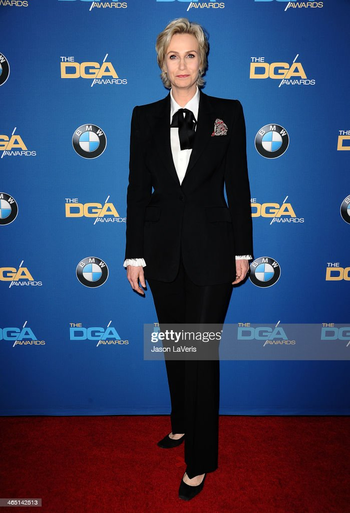 Actress <a gi-track='captionPersonalityLinkClicked' href=/galleries/search?phrase=Jane+Lynch&family=editorial&specificpeople=663918 ng-click='$event.stopPropagation()'>Jane Lynch</a> attends the 66th annual Directors Guild of America Awards at the Hyatt Regency Century Plaza on January 25, 2014 in Century City, California.