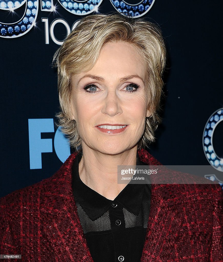 Actress <a gi-track='captionPersonalityLinkClicked' href=/galleries/search?phrase=Jane+Lynch&family=editorial&specificpeople=663918 ng-click='$event.stopPropagation()'>Jane Lynch</a> attends the 'Glee' 100th episode celebration at Chateau Marmont on March 18, 2014 in Los Angeles, California.