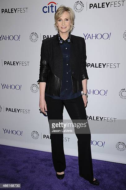 Actress Jane Lynch attends the 'Glee' event at the 32nd annual PaleyFest at Dolby Theatre on March 13 2015 in Hollywood California