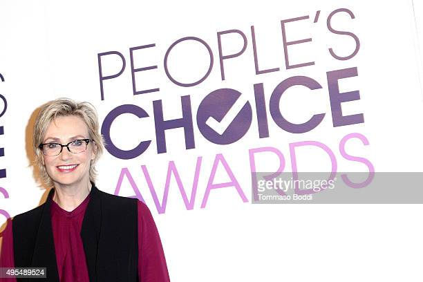 Actress Jane Lynch attends the People's Choice Awards 2016 Nominations Press Conference at The Paley Center for Media on November 3 2015 in Beverly...