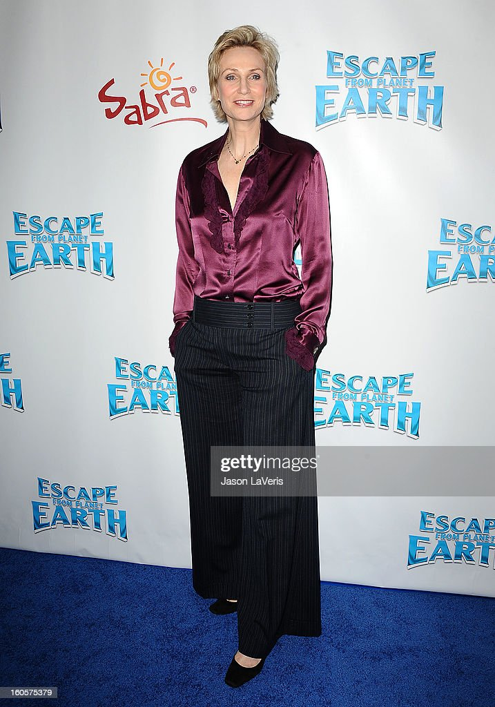 Actress Jane Lynch attends the premiere of 'Escape From Planet Earth' at Mann Chinese 6 on February 2, 2013 in Los Angeles, California.