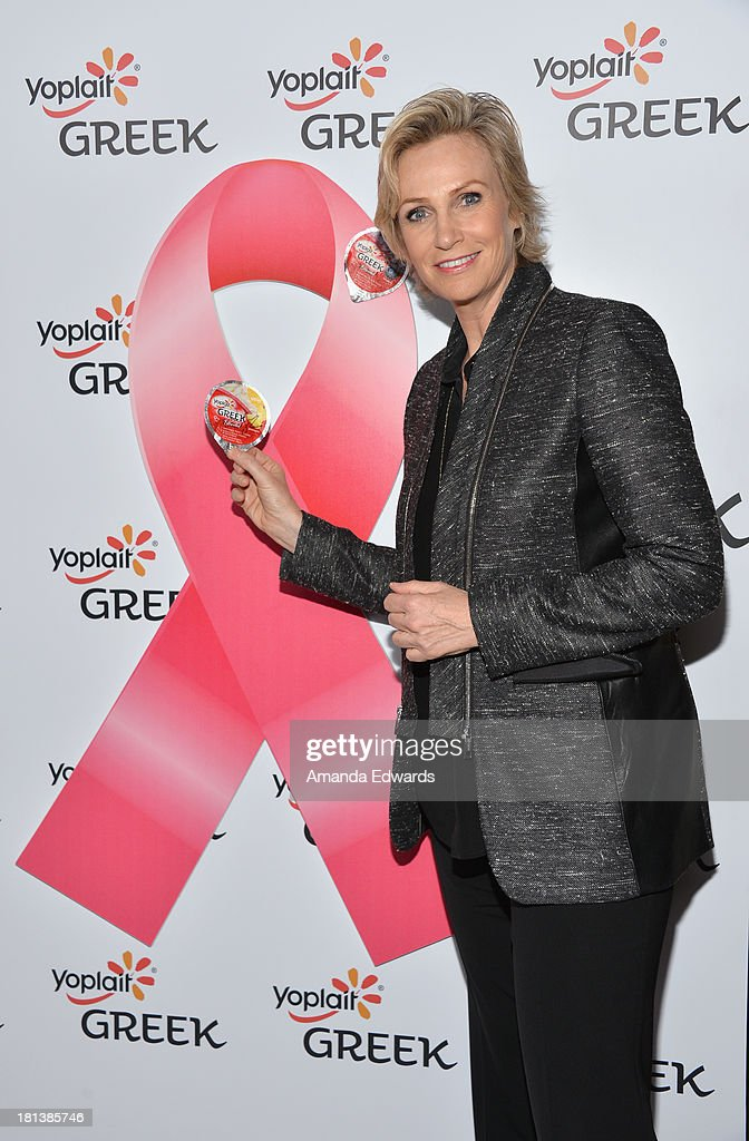 Actress <a gi-track='captionPersonalityLinkClicked' href=/galleries/search?phrase=Jane+Lynch&family=editorial&specificpeople=663918 ng-click='$event.stopPropagation()'>Jane Lynch</a> attends Variety & Women In Film Pre-Emmy Event presented by Yoplait Greek at Scarpetta on September 20, 2013 in Beverly Hills, California.