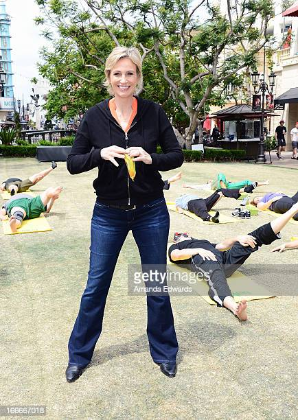 Actress Jane Lynch hosts a tax day motivation event at The Grove on April 15 2013 in Los Angeles California