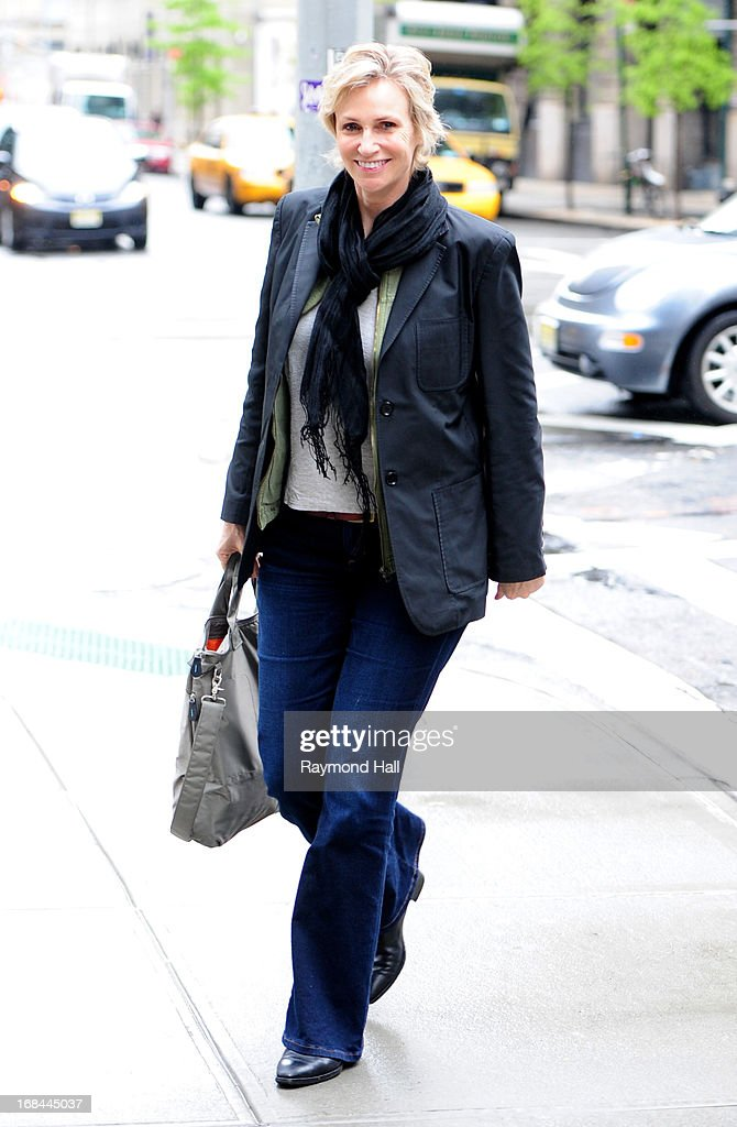 Actress Jane Lynch is seen in Soho on May 9, 2013 in New York City.