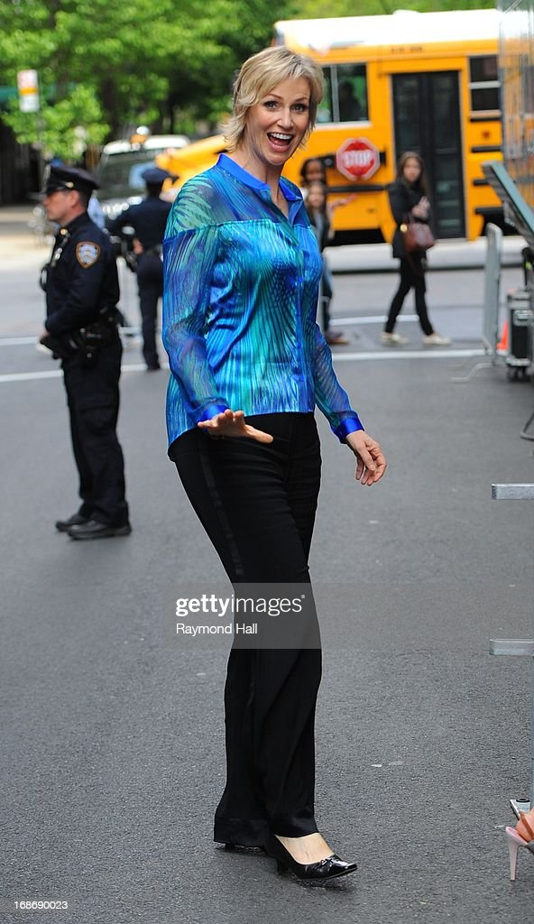 Actress Jane Lynch is seen outside 'Citrus Bar & Grill' on May 13, 2013 in New York City.