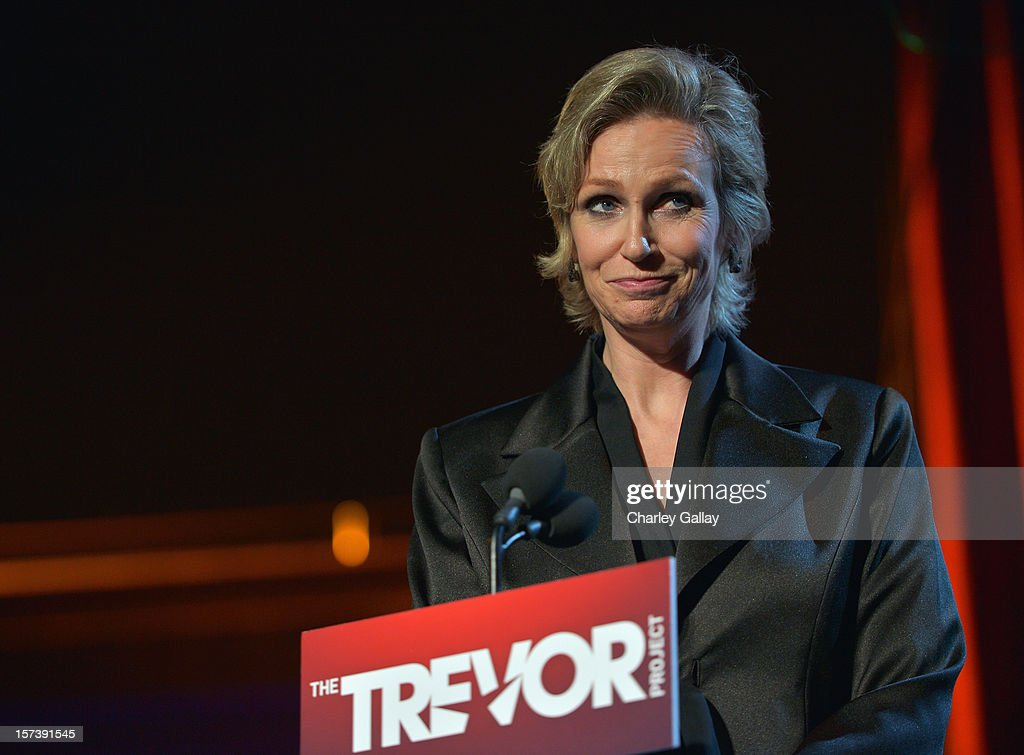 Actress Jane Lynch onstage at 'Trevor Live' honoring Katy Perry and Audi of America for The Trevor Project held at The Hollywood Palladium on December 2, 2012 in Los Angeles, California.