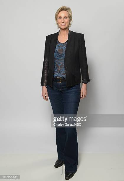 Actress Jane Lynch poses for a portrait at the NBC Universal Summer 2013 Press Day at Langham Hotel on April 22 2013 in Pasadena California