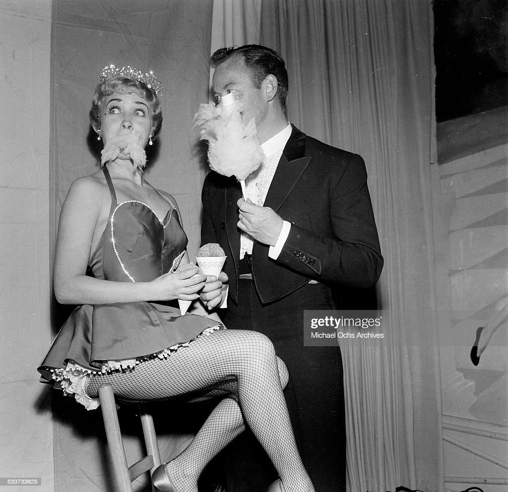 Actress Jane Powell and her husband Patrick Nerney attend Sonja Henie Circus Party in Los AngelesCA