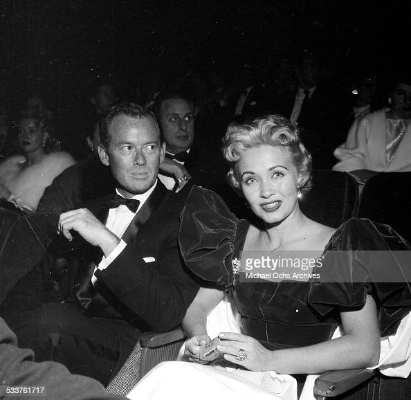 Actress Jane Powell and husband Patrick Nerney attend the premiere of 'Bundle of Joy' in Los AngelesCA