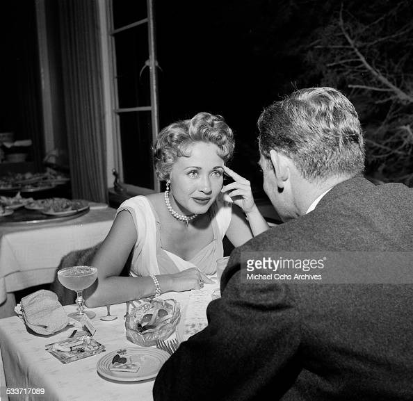 Actress Jane Powell at dinner with Patrick Nerney in Los AngelesCA