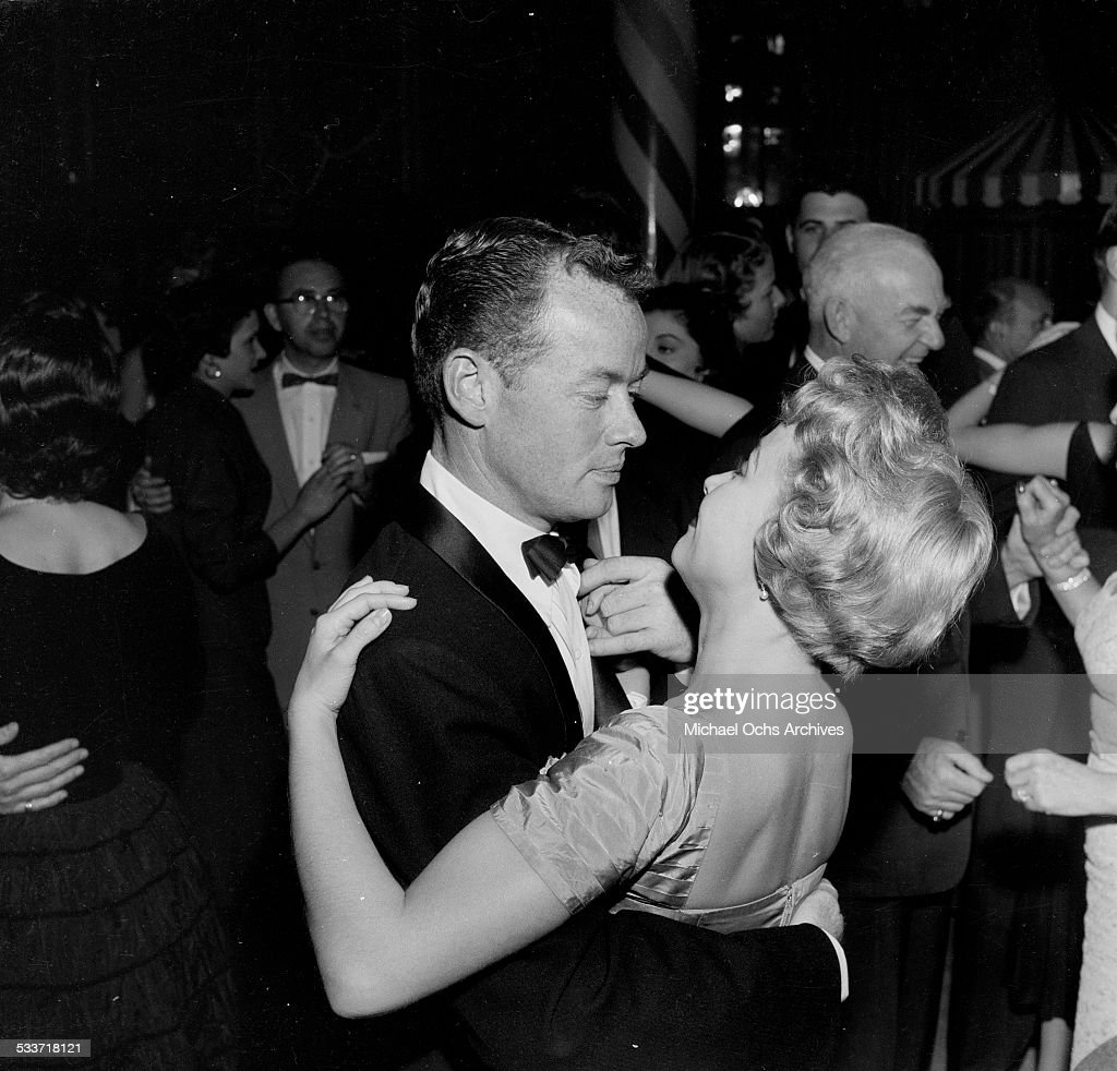 Actress Jane Powell dances with Patrick Nerney at Macombo's in Los AngelesCA