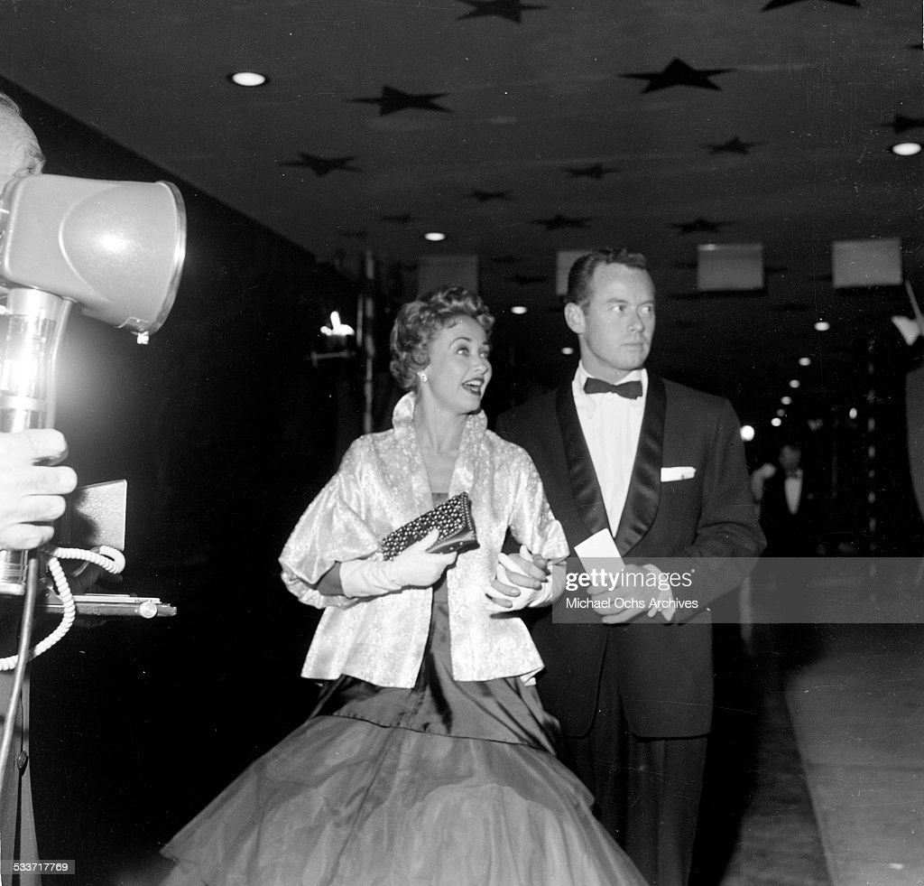 Actress Jane Powell with Patrick Nerney attend the premiere of 'Knights of the Round Table' in Los AngelesCA