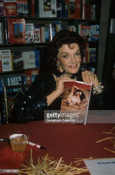 Actress Jane Russell poses for a portrait in 1986 in Los Angeles California