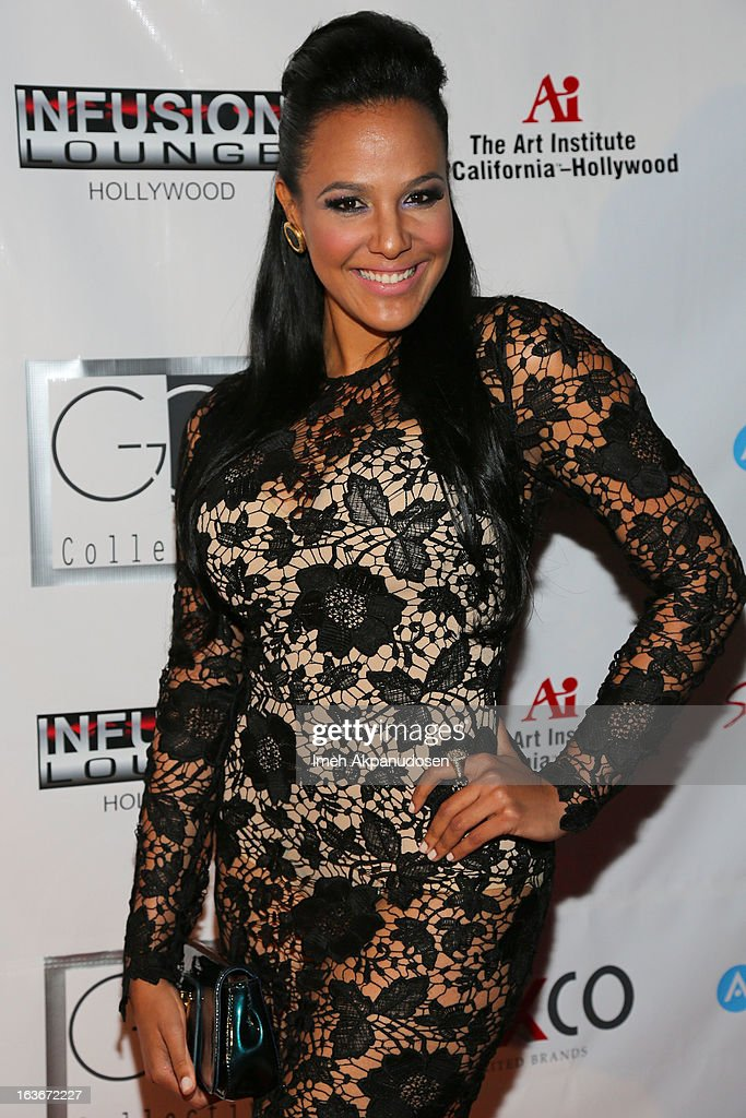 Actress Jane Santos attends the Sassi By Nancy E & GG Spring 2013 Swimsuit Collection fashion show as part of Los Angeles Fashion Week at Stage 22 on March 13, 2013 in Los Angeles, California.